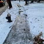 Unshoveled/Icy Sidewalk at 285–299 Newton St, Chestnut Hill