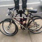Abandoned Bike at 1394–1410 Beacon St