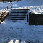 Unshoveled/Icy Sidewalk at 2–106 Jordan Rd