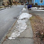 Unshoveled/Icy Sidewalk at 165 Aspinwall Ave